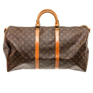 Louis Vuitton Leather Keepal 55 Duffle Bag Luggage